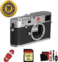 Leica M (Typ 240) Digital Rangefinder Camera (Silver) with Memory Card and Cleaning Kit Bundle (Renewed)