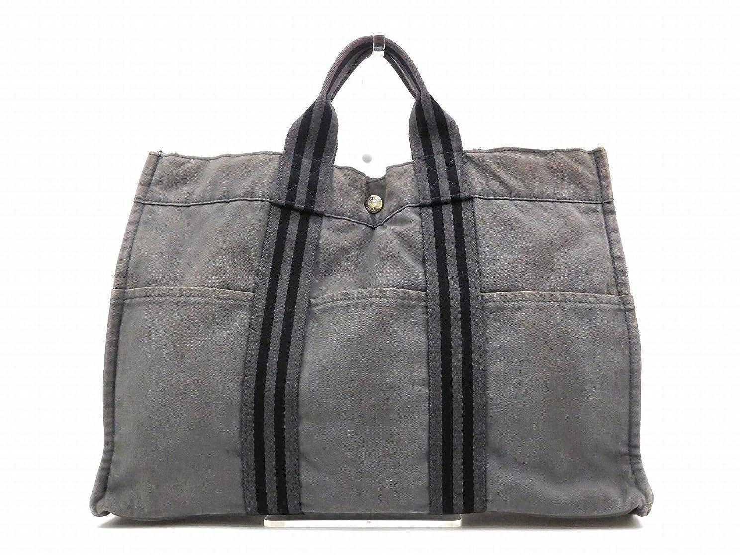 ミリメートル修理可能呼び出す[エルメス] HERMES トートバッグ 綿100% X14614 中古