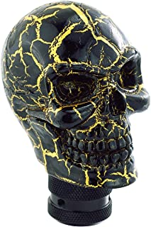 Lunsom Skull Gear Shift Head Resin Shifter Knob Car Transmission Shifting Stick Handle Fit Universal Automatic Manual Vehicle (Black)