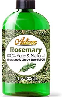 Artizen Rosemary Essential Oil (100% PURE & NATURAL - UNDILUTED) Therapeutic Grade - Huge 1oz Bottle - Perfect for Aromatherapy, Relaxation, Skin Therapy & More!