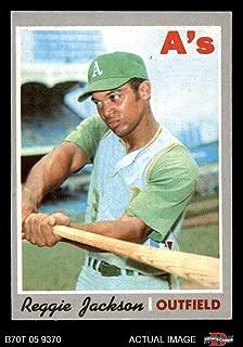 1970 Topps # 140 Reggie Jackson Oakland Athletics (Baseball Card) Dean's Cards 2 - GOOD Athletics