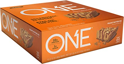 ONE Protein Bars, Peanut Butter Pie, Gluten Free Protein Bars with 20g Protein and only..