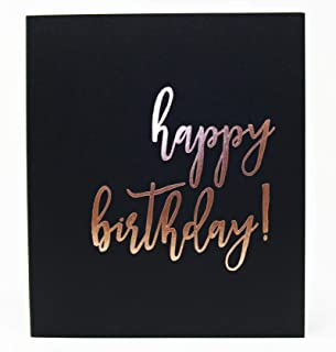 Birthday Party Guest Book, Rose Gold Party Decorations, Guest Book Polaroid, 130 Black Pgs. 8.5