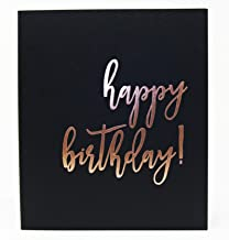 "Birthday Party Guest Book, Rose Gold Party Decorations, Guest Book Polaroid, 130 Black Pgs. 8.5""x7"". Sweet 16 Guest Book Quincenera Party, Birthday Guestbook 50th, Guest Book 1st Birthday (BK)"
