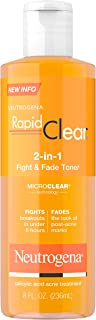 Neutrogena Rapid Clear 2-In-1 Fight & Fade Acne Toner, 8 Fl. Oz.
