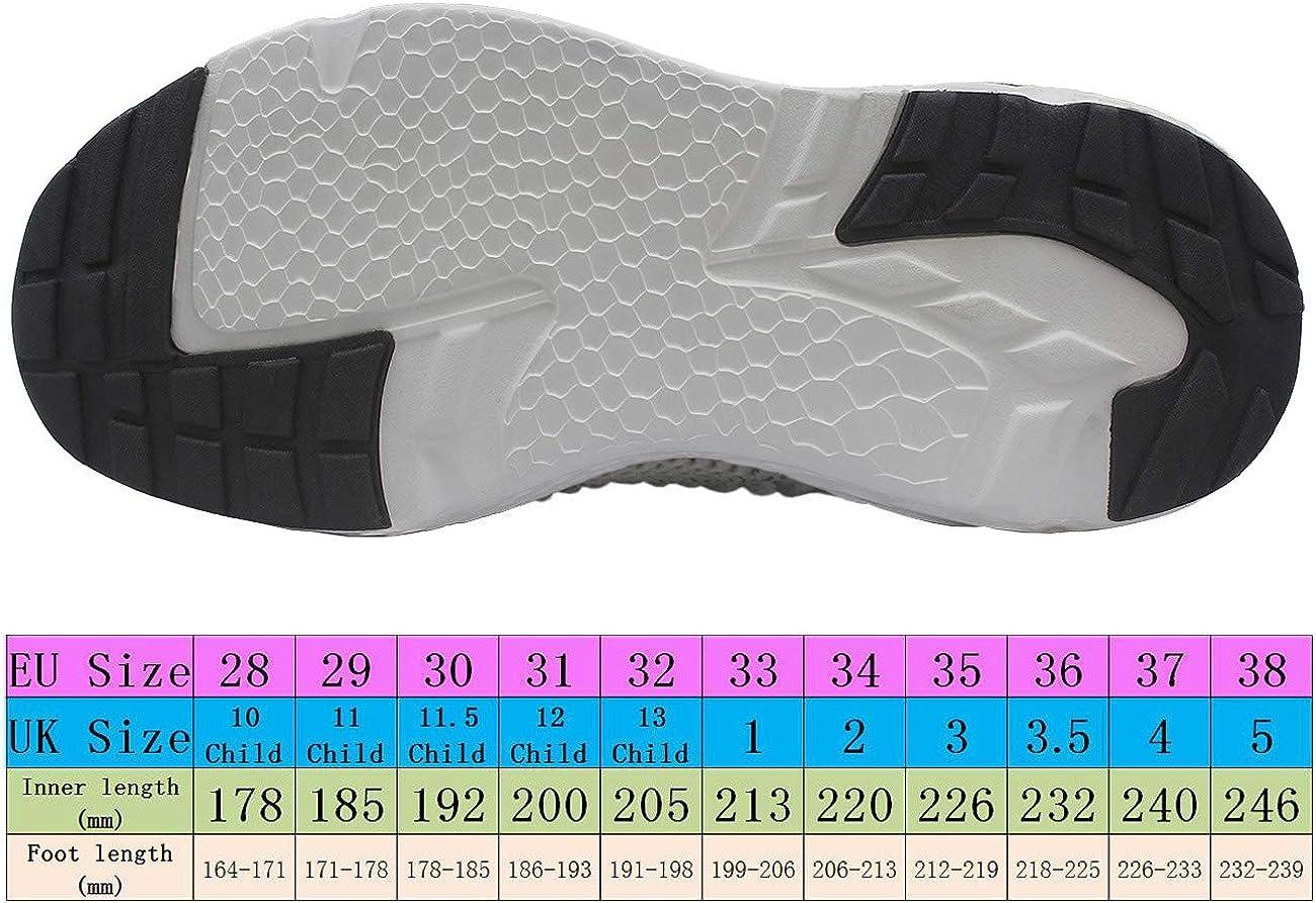 HSNA Unisex-Kinder Sportschuhe Atmungsaktiv Laufschuhe Freizeit Turnschuhe Klettverschluss Sneaker f/ür Jungen M/ädchen 28-38