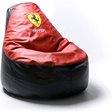 Ferrari Supercar Comfortable Kids Adult Game Outdoor Indoor Lounge Chair Cover + Inner Bag (Without Beans) Red