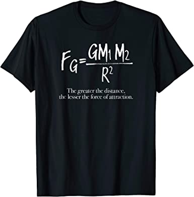 Maths and Science Newtons Law of Gravitation Kids T-Shirt