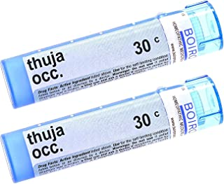 Boiron Boiron Homeopathic Medicine Thuja Occidentalis, 30C Pellets, 80-Count Tubes (Pack of 2)