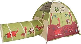 Pacific Play Tents 20435 Kids Safari Fun Dome Tent Crawl Tunnel Combo Indoor / Outdoor Fun,Multicolor