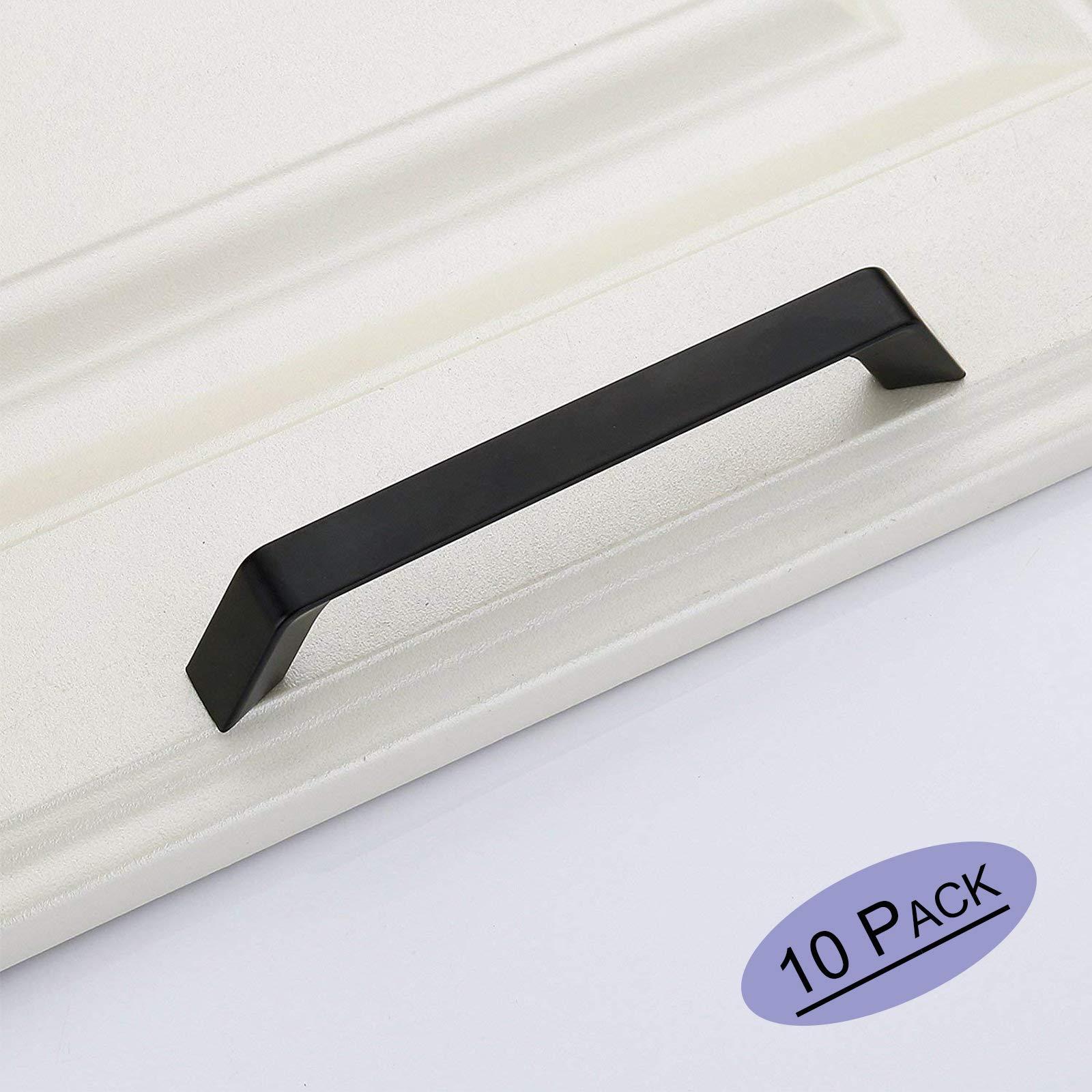 Goldenwarm Modern Black Kitchen Cabinet Handles Curved Arch Dresser Drawer Pulls Ls6785bk128 Black Cabinet Hardware Solid Cabinet Door Handle 5inch Hole Centers Pack Of 10 Amazon Com
