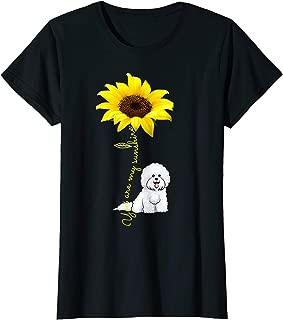 Womens You Are My Sunshine Sunflower Bichon Frise Dog Lover Shirt