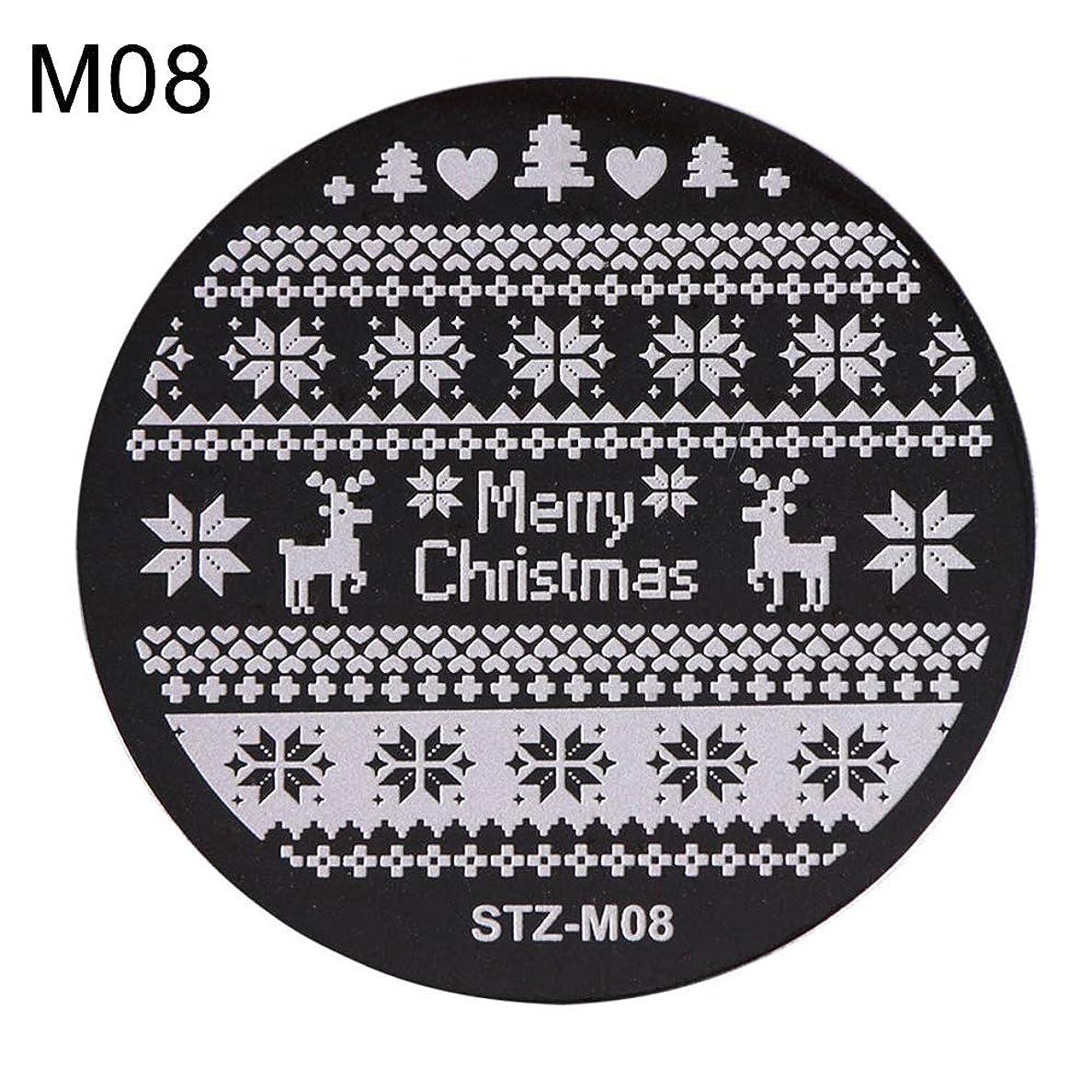 冷えるライブこどもの宮殿hamulekfae-クリスマススノーフレーク鹿の靴ネイルスタンピングプレートスタンプイメージテンプレートの装飾8