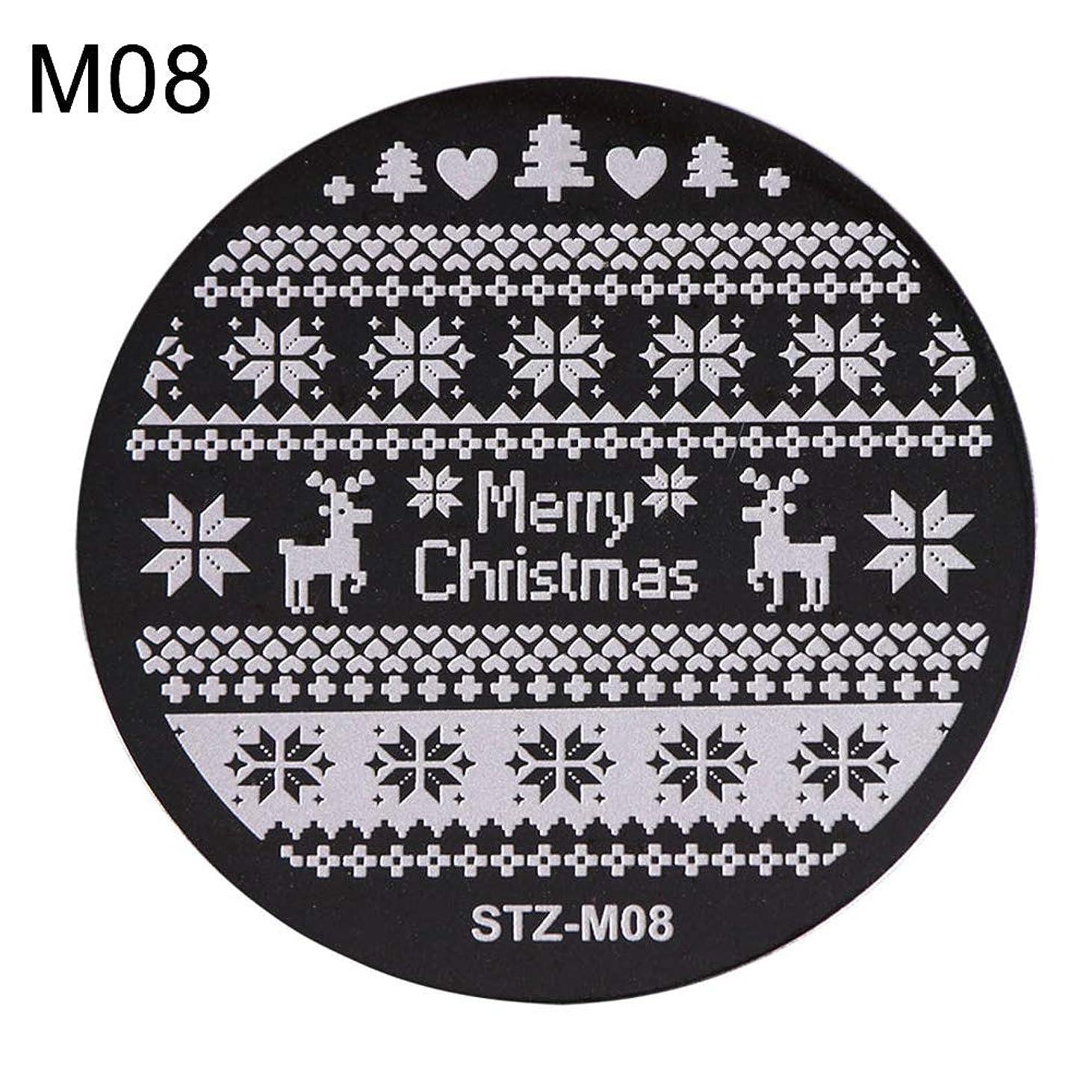 ご飯特異なカッターhamulekfae-クリスマススノーフレーク鹿の靴ネイルスタンピングプレートスタンプイメージテンプレートの装飾8