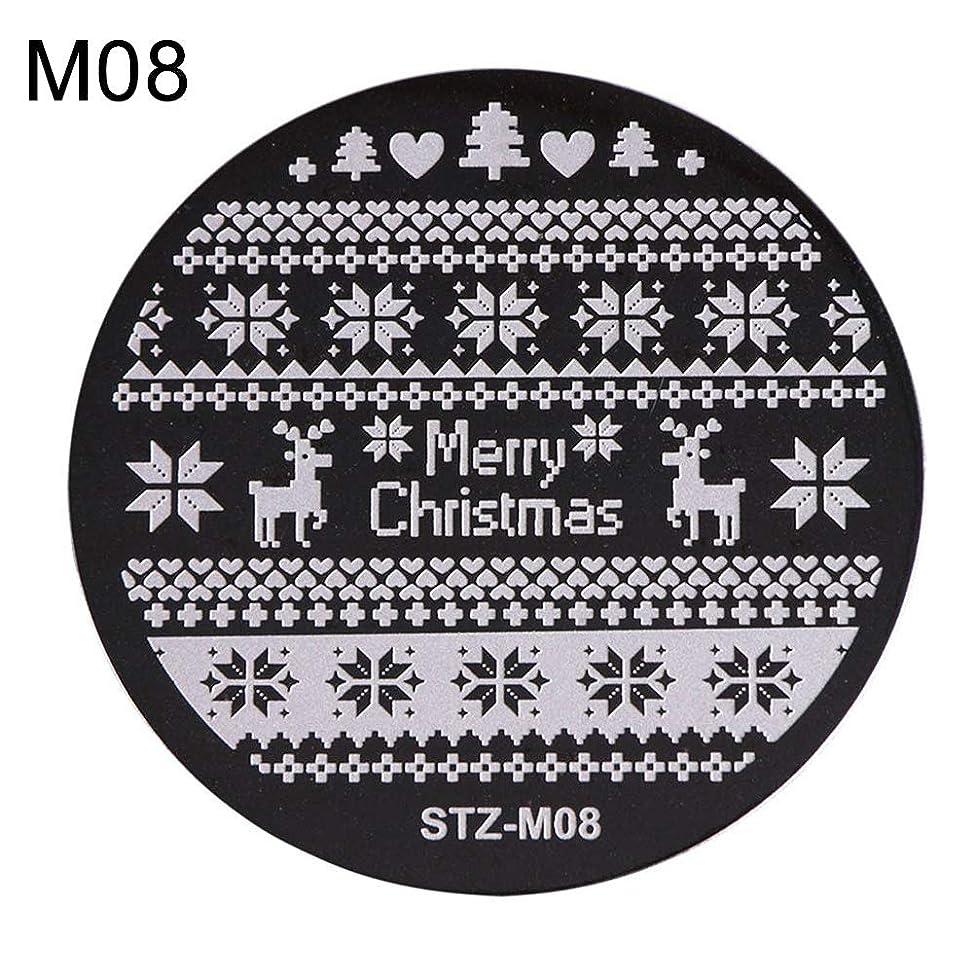 降下蒸使用法hamulekfae-クリスマススノーフレーク鹿の靴ネイルスタンピングプレートスタンプイメージテンプレートの装飾8