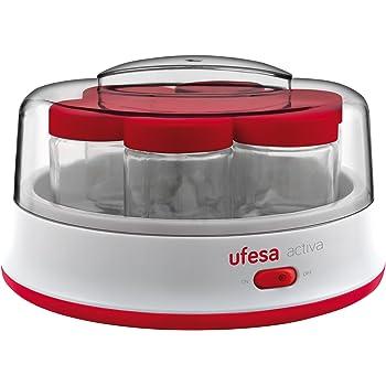 Ufesa Yogurtera Electrica Yg3000, 15 W, 1.4 litros, De plástico, Rojo, Color blanco: Amazon.es: Hogar