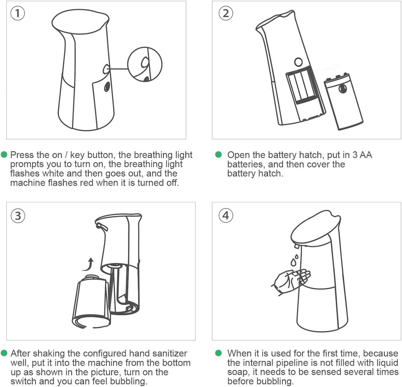 Foaming Soap Dispenser Automatic Soap Dispenser Hand soap Dispenser Touchless Soap Dispenser 300ML for Bathroom Kitchen