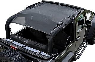 ALIEN SUNSHADE Jeep Wrangler JK (2007-2018) Full Length Sun Shade Mesh Top Cover (Black) – 10 Year Warranty - Blocks UV, Wind, Noise