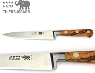 Thiers-Issard french Sabatier slicer knife - 15 cm blade - olive wood handle - forged professional quality from France