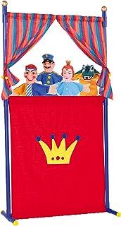 Simba - 104586783 - Marionnette Théâtre avec 4 Marionnettes à Main - 132 cm