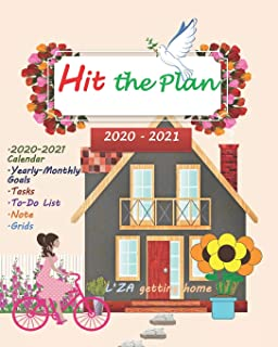 HIT THE PLAN 2020 Yearly-Monthly Planner To-Do List V.7: Yearly Monthly planner for ladies-teens/To-Do List notebook for t...