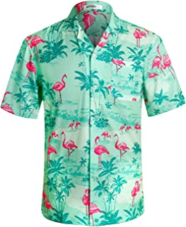 1df25375 APTRO Men's Hawaiian Shirt Short Sleeve Beach Aloha Party Shirt
