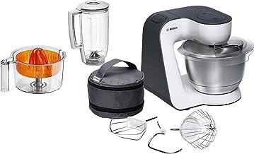 Bosch MUM50123 Keukenmachine, compact, wit/antracietgrijs.