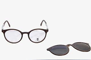 هورسز اطار نظارة دائري للجنسين - بني
