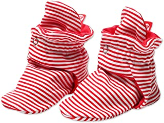 Zutano Unisex Cotton Baby Booties Solid and Candy Striped For Boys and Girls
