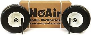 NoAir (2) Exmark Flat Free Wheel Assemblies 13x6.50-6 Lazer Z Repl 103-0069 103-0065