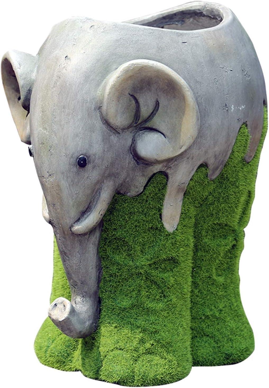 YINGTONG Outdoor Statue Rapid rise Max 42% OFF Elephant Flower Garden Pots Ani
