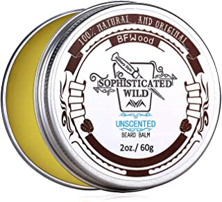 BFWood Beard Balm for Men - All Natural�and Organic Ingredients Tame, Moisturize Condition Beards & Mustaches - 2 Ounces