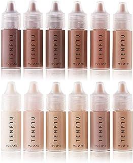 مجموعه 12 قطعه شروع کننده TEMPTU S / B ، بطری های اونس ، ضد آب ، قابل مخلوط شدن - حرفه ای ، کیت آرایش طبیعی برای ایربرش ، کاربرد اسفنجی - لوازم آرایشی با کیفیت بالا ، با دوام طولانی تر