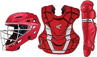 EASTON GAMETIME Baseball Catchers Equipment Box Set, 2021, Helmet, Chest Protector with Commotio Cordis Foam, Leg Guards, ...