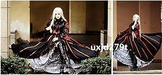 「ノーブランド品」コスプレ衣装 Fate/Zero アイリスフィール 黒化版 ドレス ワンピース