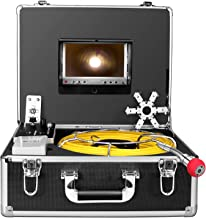 Pipe Inspection Camera165ft, Pipeline Drain Sewer Industrial Endoscope 50M Cable Waterproof IP68 Cable Snake Video System with 7 Inch LCD Monitor 1000TVL Sony CCD DVR Recorder Sewer Camera (50M-DVR)