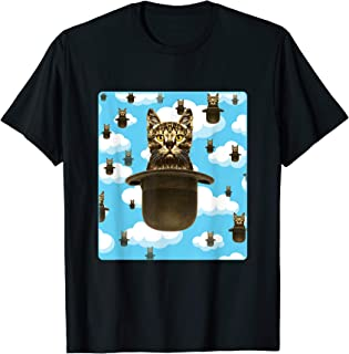 Cat Bowler Hat Inspired by Surrealist Artist Rene Magritte T-Shirt