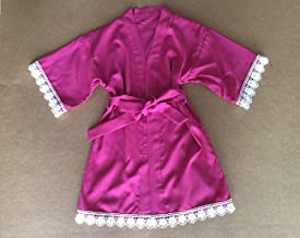 WEIMEITE Flower Girl Robe Pure Color Kimono Wedding Party Getting Robe