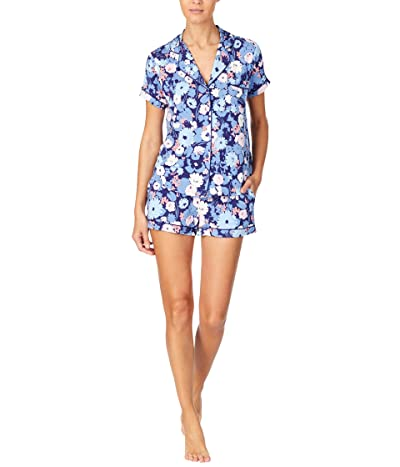 Kate Spade New York Modal Jersey Notch Collar Shorty PJ Set (Swing Floral) Women