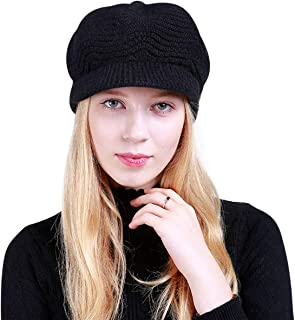 DORRISO Fashion Beret Cap Autumn Winter Plain Warm Leisure Vacation Travel Street Style French Beret Womens Girls Beret Hat High Quality Wool