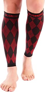 Doc Miller Premium Calf Compression Sleeve 1 Pair 20-30mmHg Strong Calf Support Multiple Colors Graduated Sports Running Recovery Shin Splints Varicose Veins Argyle Skin Tones 2XL 3XL 4XL 5XL