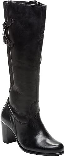 Lederstiefel Damen   Premium Natürlich Leder   Lederstiefel Damen Langschaft   Absatzstiefel für Damen   Stiefel Damen mit Absatz