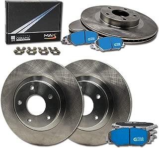 Max Brakes Front /& Rear Premium Brake Kit OE Series Rotors + Metallic Pads TA014143 Fits: 2003 03 2004 04 GMC Sierra 2500HD w//Rear 4.84 Dia Center Hole/&330.4mm DiaX90mm Overall Height Rotor