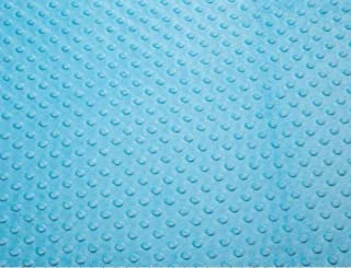 Turquoise Minky Dimple Dot Fabric - 60