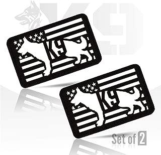 M-Tac Morale Patches K9 Police Dog Service Badge Pet Vest Fastener Hook & Loop