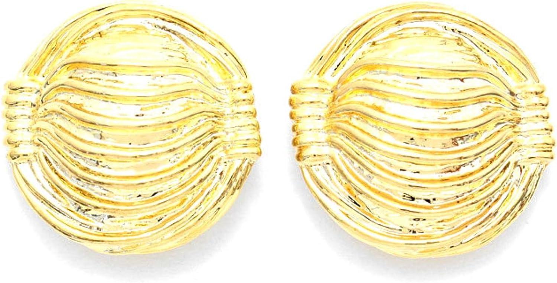 Metal Clip on Earrings / AZERCO969-GLD