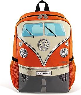 BRISA VW Collection - Volkswagen Bus T1 Camper Van Kombi School, Travel Backpack (S/Orange)