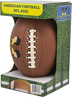 Loman Brothers American Football Ball for Kids & Players 14+ | Offical NFL Sizing for Football Matches & Leagues | Premium Grip & Feel Ball for Training & Tournaments | NCAA & NFL Football Quality