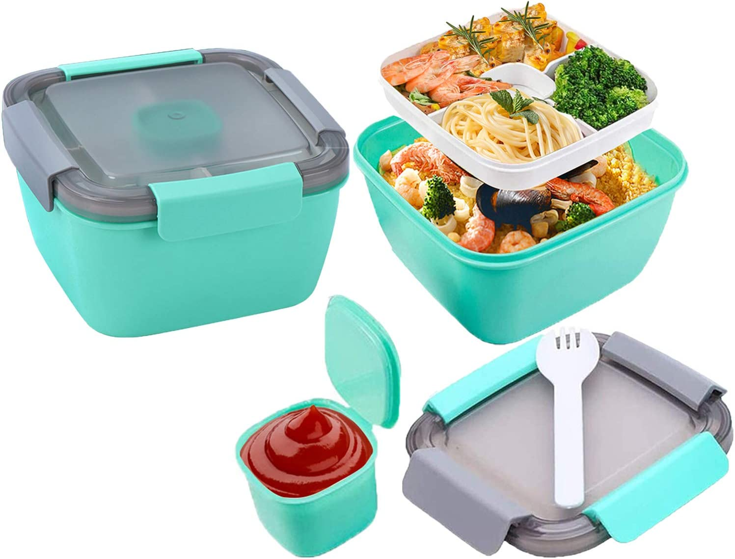 50 Nippon regular agency oz We OFFer at cheap prices Bento Boxes 3 Compartments Salad Dre with Lunch Container