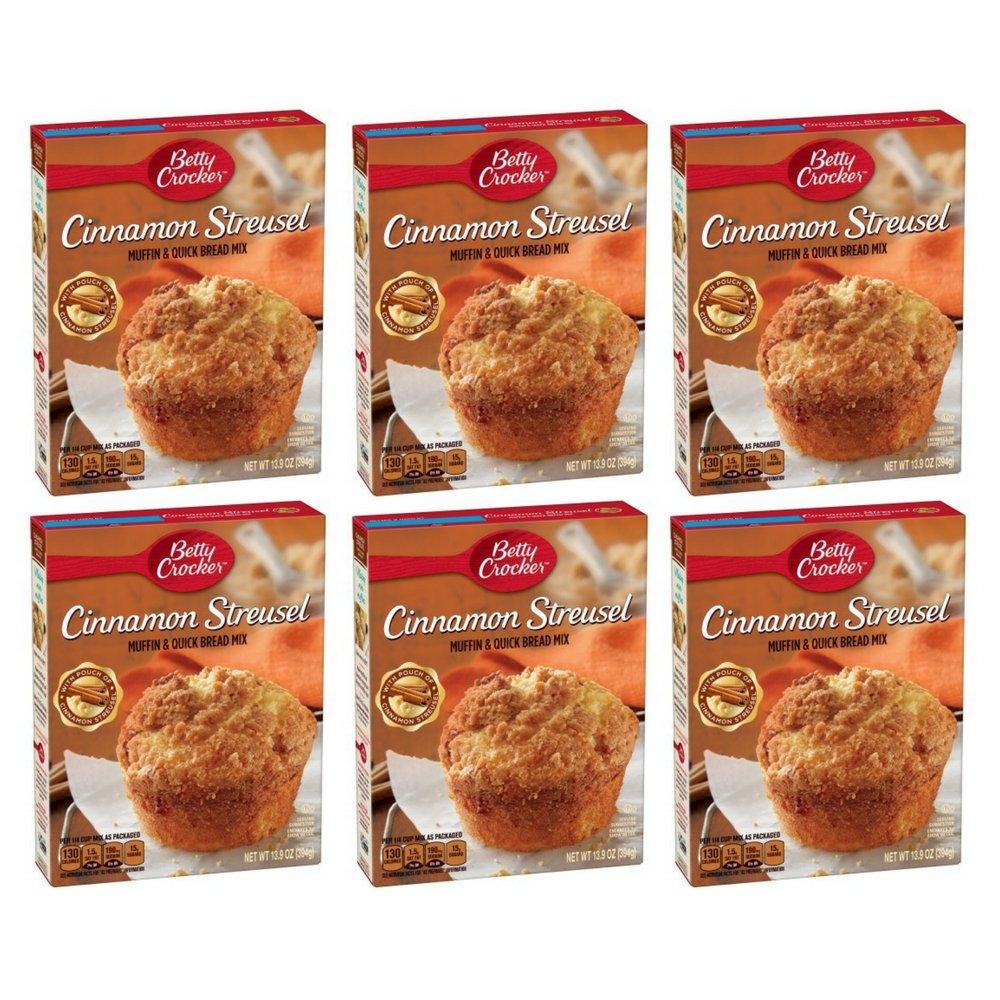 Betty 100% quality warranty! Crocker Cinnamon Streusel Muffin Mix Quick 13.9 O Ultra-Cheap Deals Bread